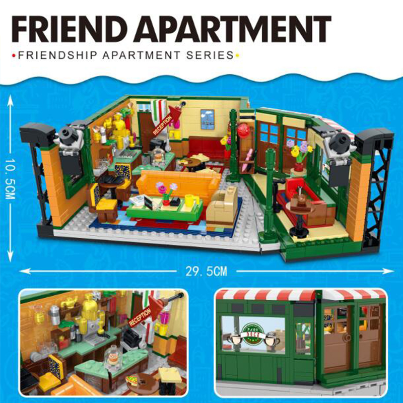 New Legoinglys Classic TV Series American Drama Friends Central Perk Cafe Model Building Block Bricks 21319 Toy Gift Kid