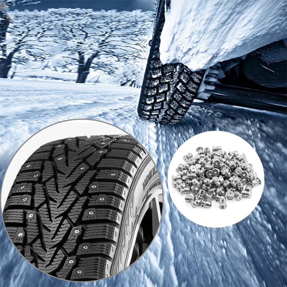 100 PCS Car Tires Studs Screw Snow Spikes Wheel Tyres Snow Chains Bike Shoe Safe