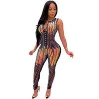 Overalls For Women Bodycon Jumpsuit Romper Sexy Sequin Bodysuits Feminino Elegant Ladies Sparkly Jumpsuits 2019 Clothes Mesh