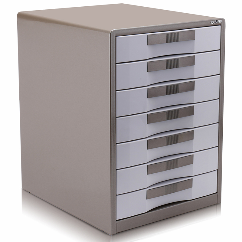 Five-layer Metal Desktop File Cabinet Office Receiving Box Drawer with Lock Large Capacity Metal Material with Lock