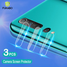 3 pièces caméra Protection verre trempe pour Xiaomi Redmi Note 9Pro 7 8Pro 10 Lite 9S Film de Protection d'écran protecteurs Mi 10 9 8 Lite Poco M3 f2 Pro X3 appareil photo arriere
