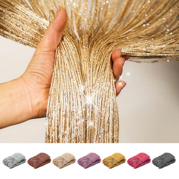 200x100Cm Luxury Crystal Curtain Shiny Tassel String Door Curtain Room Divider Window Living Room Curtains Decoration Cortina 1