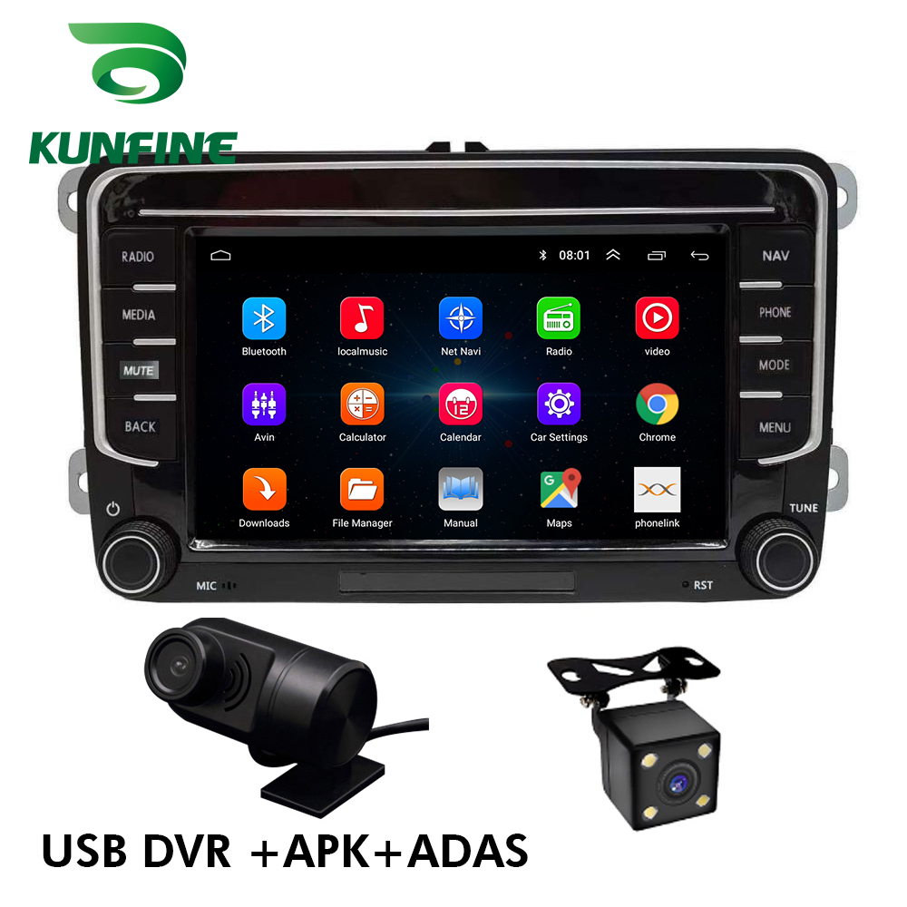Car Multimedia player Android 9.0 Car DVD GPS Navigation Player Car Stereo for VW/polo/golf/passat Skoda Octavia Headunit Radio image