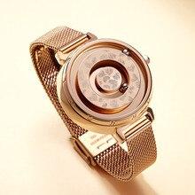 Brand Magnetic Ball Wrist Watch Rose Gol
