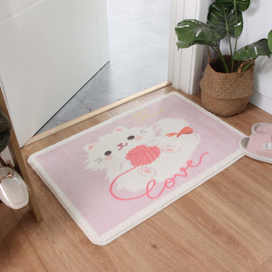 Image 2 - Décor à la maison Animal paillasson Shaggy Latex bas Machine lavage salle de bain cuisine tapis tapis dessin animé cochons intérieur entrée tapis de sol