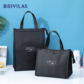 Brivilas new food coolerbags portable hand zip lunch bag for women  waterproof picnic travel breakfast thermo high quality - discount item  29% OFF Special Purpose Bags