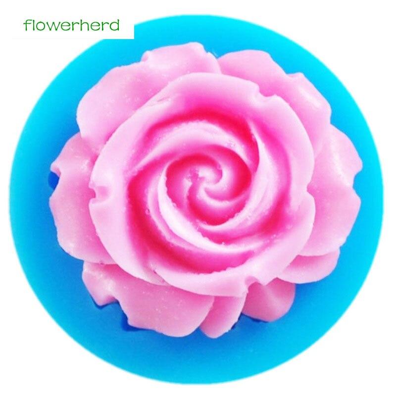 Mini 3D Rose Flower Shapes Silicone Mold Fondant Mold Sugarcraft Cake Decorating Baking Tools Surgar Soap Candle Mould