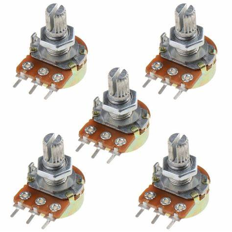 10pcs Potentiometer Resistor 1K 2K 5K 10K 20K 50K 100K 500K 1M Ohm WH148 Linear Potentiometer 20mm Shaft With Nuts Washers 3Pin