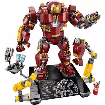 цена на Iron Man Hulkbuster 76105 Marvel Ironman Avenger Super Heroes Model Building Blocks Boys Christmas gift Children Toys