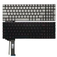Teclado laptop com retroiluminação eua  teclado para asus gl552 gl552j › gl552v gl552vl gl552vw/pro/vermelho/prata