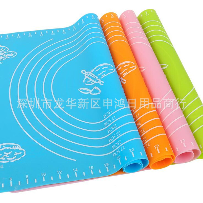 Silicone Baking Mat Roll Dough Mat High-temperature Resistant Microwave Baking Large Size Insulation Pad 65*45 40*50