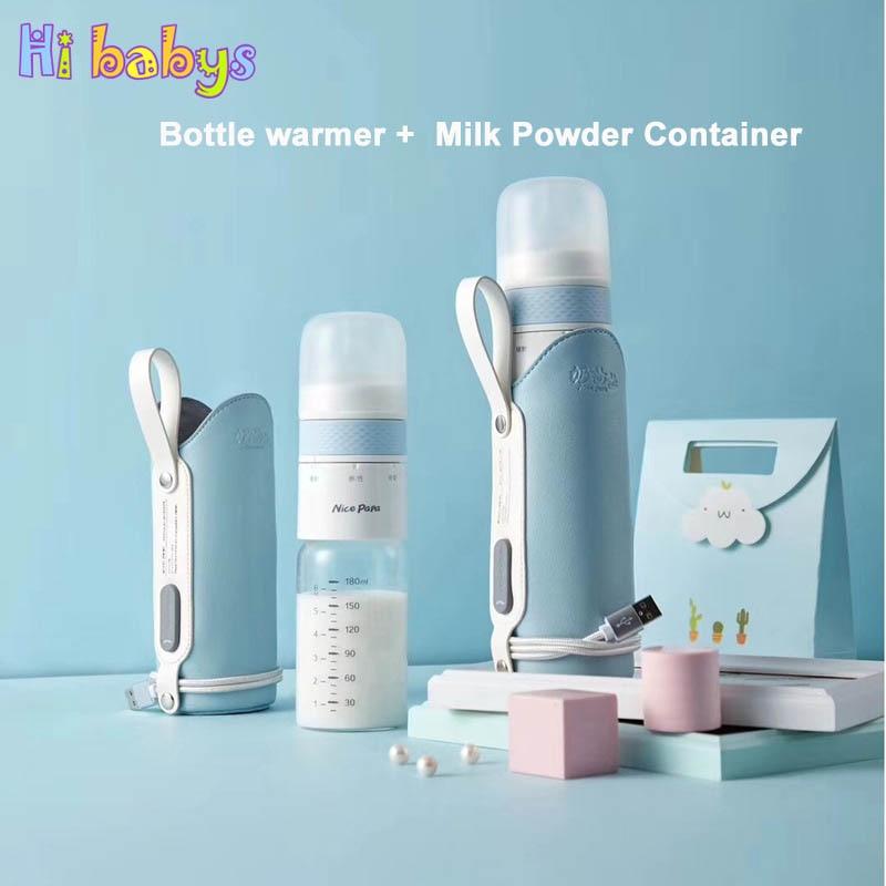 3 In 1 Travel Feeding Bottle Milk Powder Storage USB Milk Bottle Warmer Infant Travel Thermal Bag Baby Safety Materials