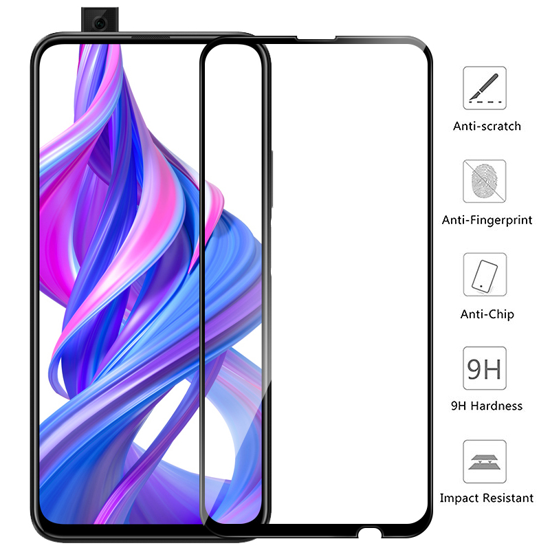 Honor 9X Glass For Honor 9X Premium Screen Protector Honor 9X Glass On Honor 9 X X9 9XPro X9 X9Pro 6.59'' Protective Film Cover