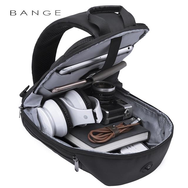Bange Fashion Multifunction Crossbody Bags Men USB Recharging Chest Pack Short Trip Messenger Chest Bag Waterproof Shoulder Bag 3