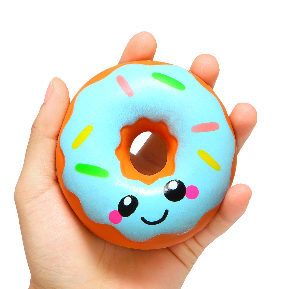 Cute Kawaii Donut Squeeze Soft Squishy Slow Rising Simulation Sweet Scented Stress Relief Toys Kids Baby Birthday Christmas Gift