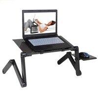 Tragbare Faltbare Einstellbare Laptop Schreibtisch Computer Tisch Stand Tablett Notebook Lap PC Folding Schreibtisch Tisch mit Maus mit fan