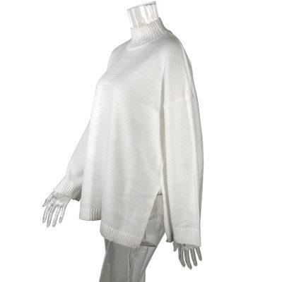 Autumn Winter 2019 Knitwear Pullover Sweater Women White Oversized Jumper Fashion Casual Turtleneck Basic Sweaters 16
