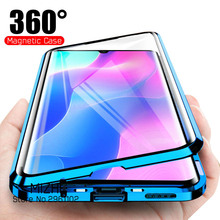 Coque de téléphone à rabat magnétique 360 °, étui léger Double face en verre pour xiaomi mi note 10 lite mi10 note 10 pro