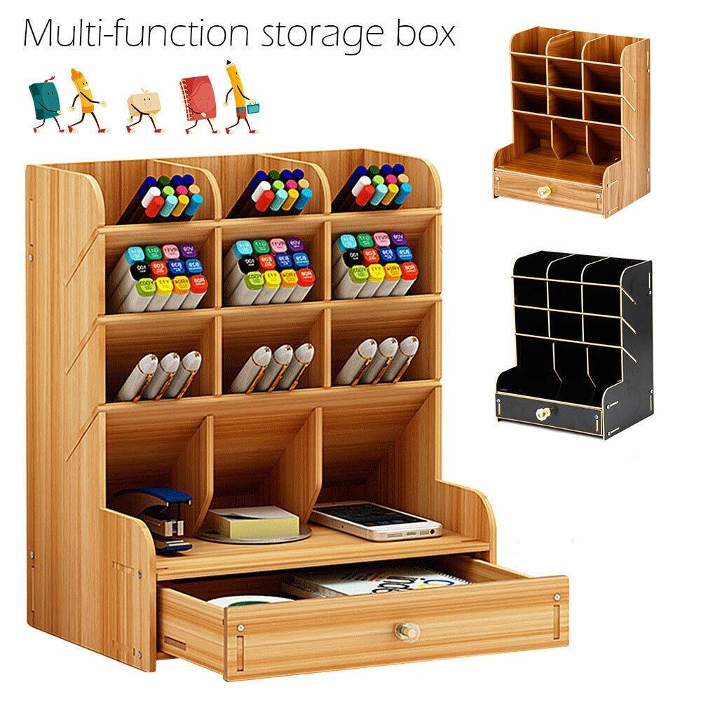Storage Box Pen Pencil Pot Holder Container Desk Organizer Accessory Home Office Supply Storage Rack