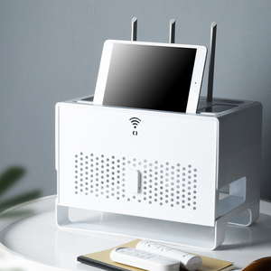 Image 3 - Shelf Strong Hanging Wire Bracket Wifi Storage Household Accessory Rack Plug Holder Wall Hanger Power Cable Wire Organizer Box