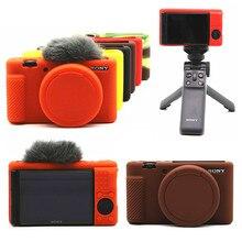 Silicone Soft Armor Skin Camera Case Body Cover Protector for Sony ZV 1 ZV1 Digital Cameras