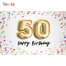 Yeele 50th Birthday Photocall Decor Colorful Dots Photography Backdrops Personalized Photographic Backgrounds For Photo Studio
