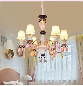 Детская комната Хрустальная Комната принцессы лампа для спальни светодиодная креативная Люстра для девочки