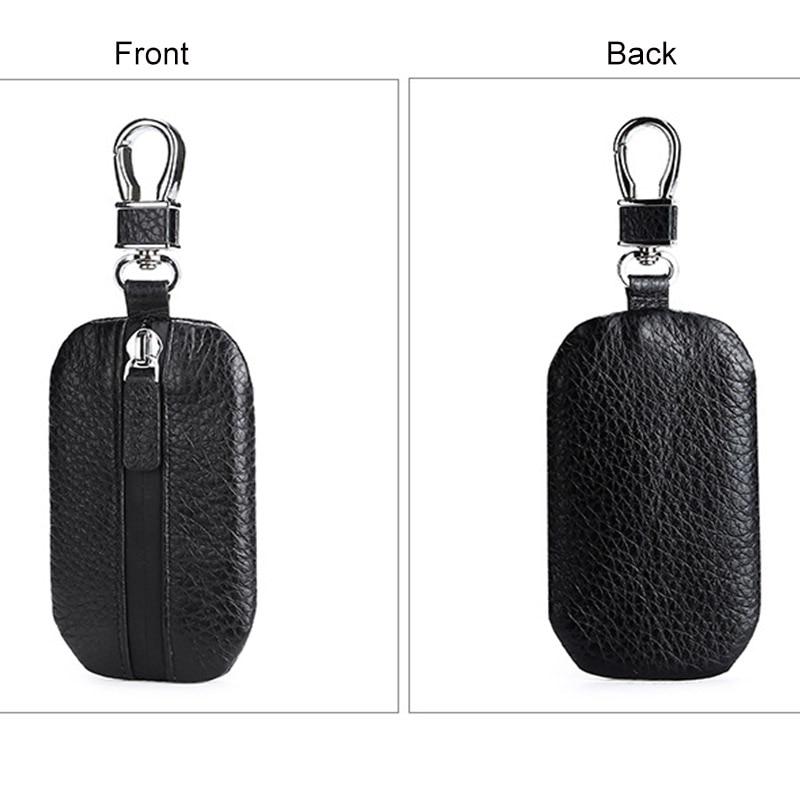 CICICUFF Universal Car Key Bag Key Wallet Genuine Leather Housekeeper for Keys Waterproof Keychain Car Key Case Holder Organizer