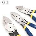 Кусачки REIZ диагональные 5/6/7 дюймов, инструмент для зачистки проводов, боковой резак, заусенцы для кабеля, кусачки для электриков, ручные инс...