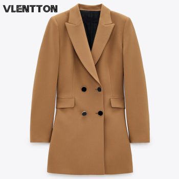Spring Autumn Women Fashion Vintage Khaki Blazers And Jackets  Chic Button Long Suits Coats Female Office Lady Blazer Feminino blazer 2016 new fashion women slim coats female brand pocket design long sleeve women blazers jackets d052