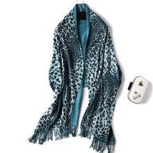 2019 Luxury Leopard Cashmere Scarf Women Tassel Warm Winter Scarves Shawls Wrap Thick Double-sides Pashmina Lady Stole