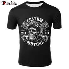 New Skull T Shirt Men Black Tshirt Funny Punk Rock Clothes Military 3d Print T-shirt Hip Hop Mens Clothing Summer Streetwear цены