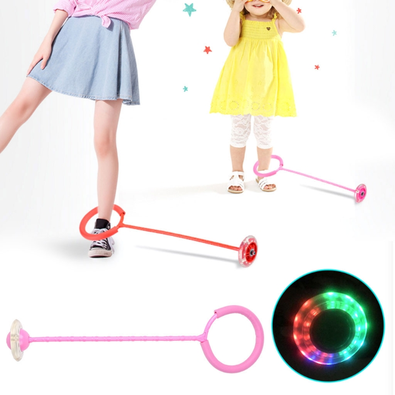 LED Flash Jumping Foot Force Ball Outdoor Sports Toy For Adult Children Kid Q6PD