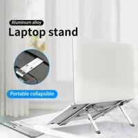 Dobrável portátil notebook estande riser titular altura ajustável ergonômico mesa do computador para 11 17 polegadas para macbook ar pro Mesas de computador     -