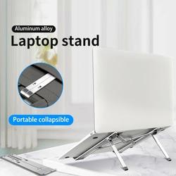 Pieghevole Del Computer Portatile Notebook Stand Riser Supporto Regolabile in Altezza Ergonomica Scrivania Del Computer per 11-17 pollici per MacBook Air Pro