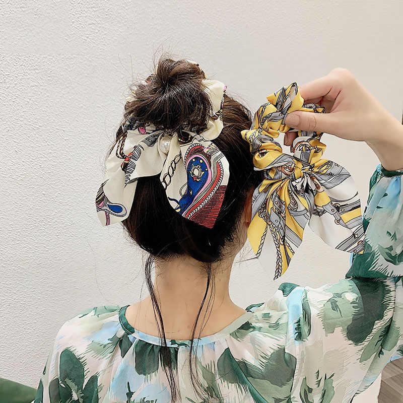 女性のヘアアクセサリーベビーファッションヘッドバンド生地クロス結び目弓シフォン花ヘアバンド韓国頭飾りレディースフープ