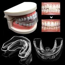 1PC aparaty ortodontyczne urządzenie Dental szelki silikonowe wyrównanie trener zęby ustalający bruksizm ochraniacz na zęby zęby prostownica