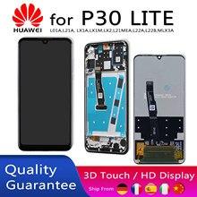 HUAWEI P30 Lite ekran değiştirme LCD ekran dokunmatik Digitizer ekran meclisi ile çerçeve 6.15 inç P30 LITE