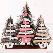 PATIMATE Christmas Letter Wooden Pendants Tree Decoration Merry Ornaments 2019 Xmas Hanging New Year 2020