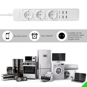 Image 2 - Wifi Power Strip Surge Protector Eu Stopcontacten Timer Voice Afstandsbediening Werkt Met Echo Alexa Google Thuis