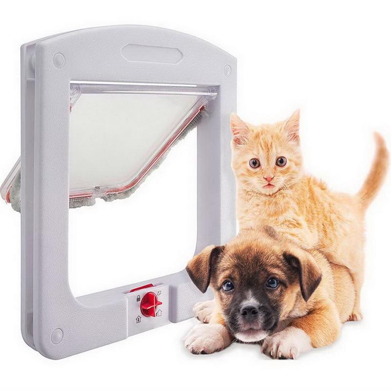 Pets Door Hond Puerta Para Perro Cat Door Animal Small Pet Cat Dog Gate Doors Pet Supplies Plastic Door Dieren Benodigheden|Cat Crates & Cages|   - AliExpress