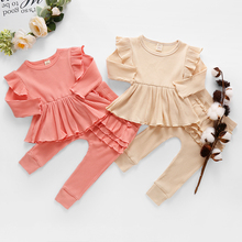 Newborn Clothing-Sets Baby Tops Toddler Girls Baby-Girl Headbands Spring Long-Pants Infant