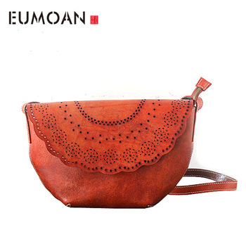 EUMOAN Original hand-wiping bag leather bag handbag retro first layer tannery personalized bag shoulder Messenger bag