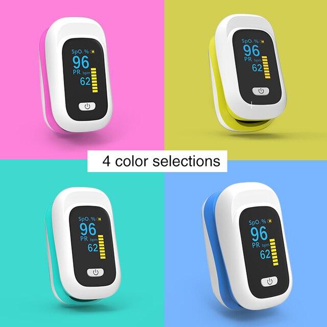 BOXYM OLED Finger Pulse Oximeter Oximetro de dedo blood oxygen Heart Rate Saturation Meter Saturometro Monitor CE 4