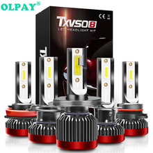 OLPAY Car Headlight H7 LED H4 H1 H11 H3 H13 H27 880 9006 9007 80W 8000LM 6000K 12V 24V Auto Headlamp COB Fog Light Bulb