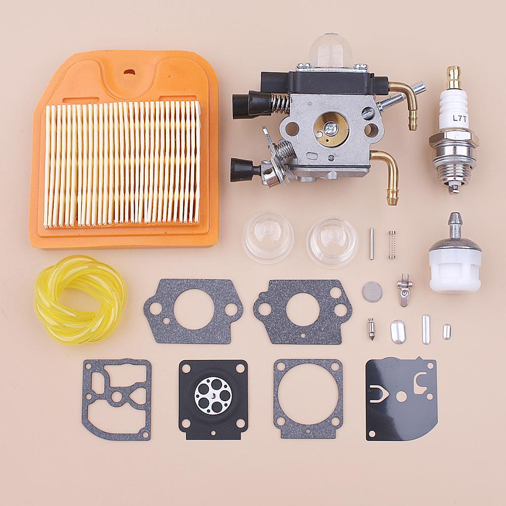 Carburetor Carb For Stihl HS81 HS81R HS81RC HS81T HS86 HS86R HS86T Air Fuel Filter Line Repair Kit Trimmer
