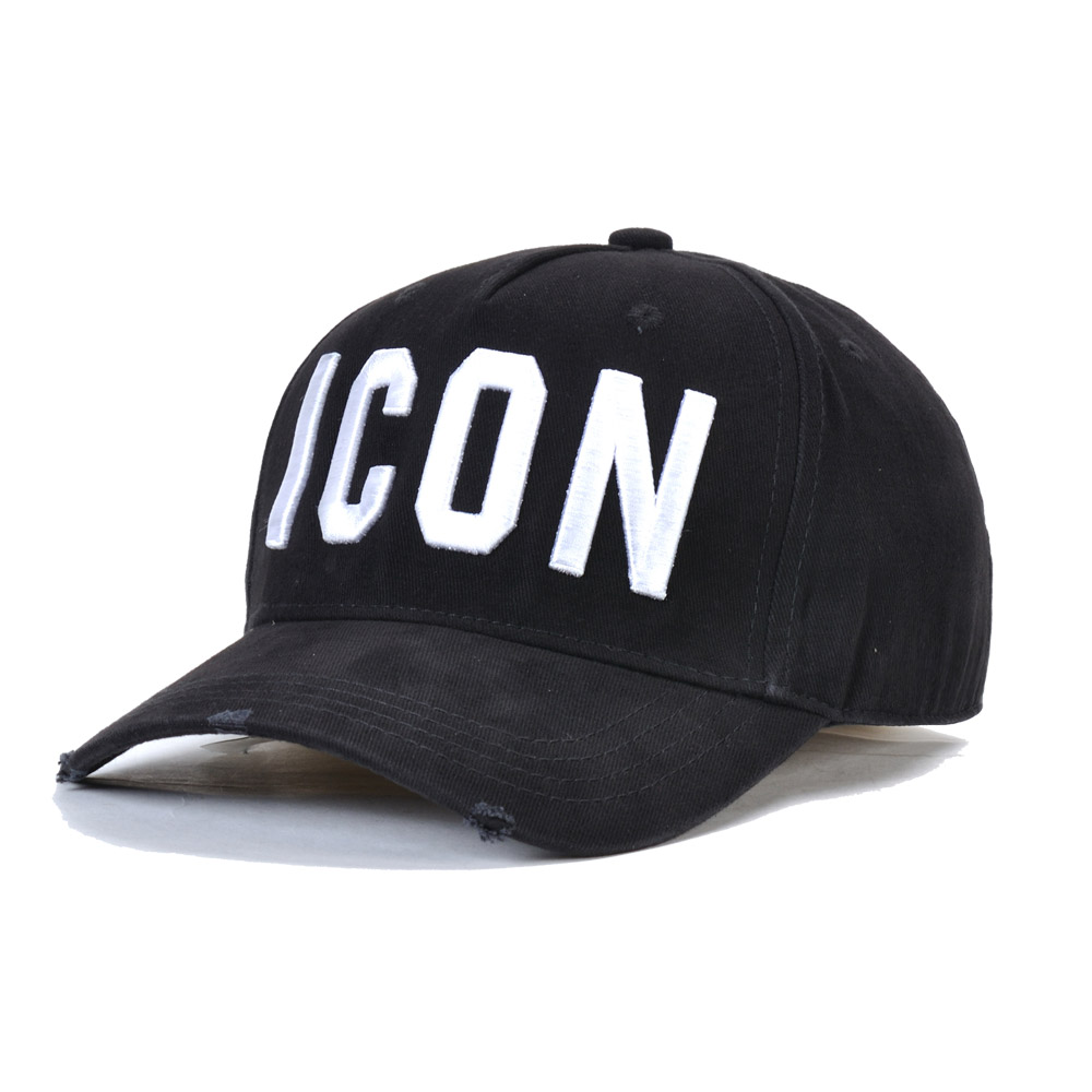 Black Cap Baseball-Caps Letter ICON Adjustable Brand Hat Dsq2 Unisex Men High-Quality
