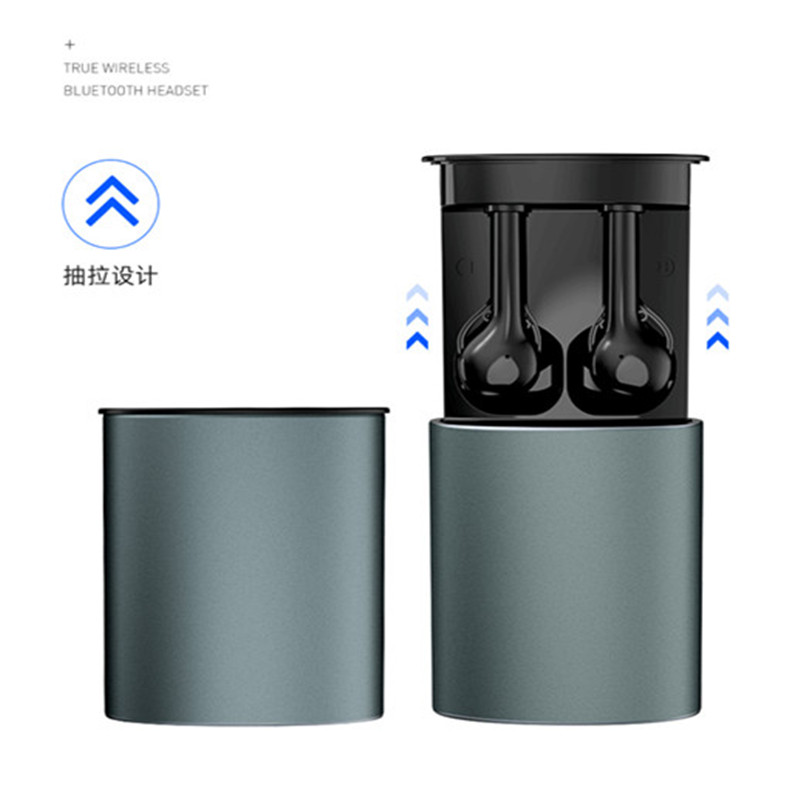 Waterproof  IPX5 Wireless bluetooth 5.0 earphone automatic pairing stereo headset with pull-out digital display