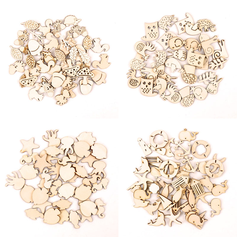 25x Wooden Shape Unfinished STAR Embellishment For Craft Scrapbooking 50mm