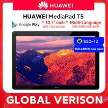 HUAWEI MediaPad-Tableta T5, versión Global, 4GB, 64GB, 10,1 pulgadas, ocho núcleos, altavoz Dual, 5100 mAh, compatible con tarjeta microSD, Android 8,0